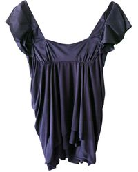 Vanessa Bruno Top, tee-shirt viscose violet