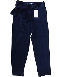 IRO - Pantalon droit acetate noir - Lyst