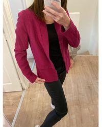 Sandro Blazer, veste tailleur viscose rose