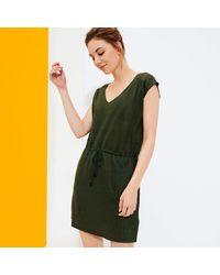 Vilebrequin Short Linen Jersey Dress Solid - Green