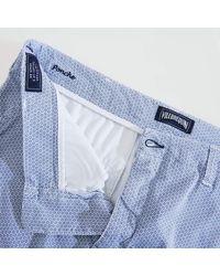 Vilebrequin Chino Printed Bermuda Shorts Micro Flowers - White
