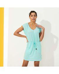 Vilebrequin Short Linen Jersey Dress Solid - Blue