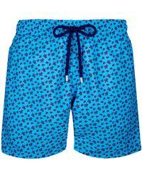 Vilebrequin Costume Da Bagno Uomo Micro Ronde Des Tortues - Costume Da Bagno - Moorea - Blu