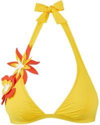 Vilebrequin Top bikini donna all'americana fleurs 3d - costume da bagno - fiore - Giallo