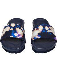Vilebrequin Beach Sandals Watercolor W's Slide - Blue