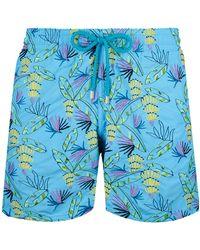 Vilebrequin Costume Da Bagno Uomo Ricamato Go Bananas - Edizione Limitata - Costume Da Bagno - Mistral - Blu