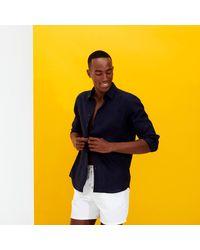 Vilebrequin Linen Shirt Solid - Blue