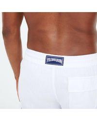 Vilebrequin Solid Linen Bermuda-m - White