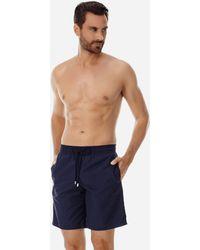 11dc8a960b Vineyard Vines Laser Cut Solid Board Shorts in Blue for Men - Lyst