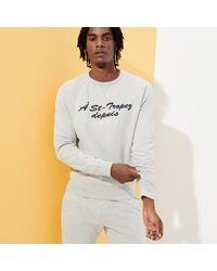 Vilebrequin Cotton Crewneck Sweatshirt Solid - Grey