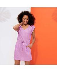 Vilebrequin Short Linen Jersey Dress Solid - Pink