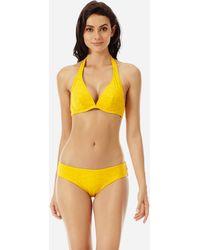 Vilebrequin Women Bikini Top With Underwires Ecailles De Tortue - Orange