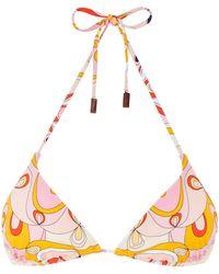 Vilebrequin Top bikini donna a triangolo kaleidoscope - costume da bagno - fleur - Rosa