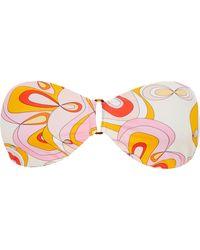 Vilebrequin Top bikini donna a fascia kaleidoscope - costume da bagno - lune - Rosa