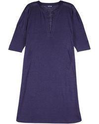 Vilebrequin - Women Long Linen Jersey Tunic Dress Solid - Lyst