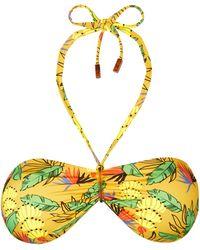 Vilebrequin Top Bikini Donna A Fascia Go Bananas - Costume Da Bagno - Feery - Giallo