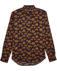 Vilebrequin - Prehistoric Fish Cotton Veil Shirt - Lyst