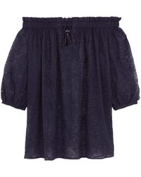 Vilebrequin Silk Cover-up Paisley - Blue