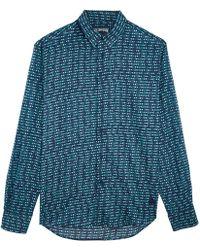 Vilebrequin - Unisex Cotton Voile Shirt Modernist Fish - Lyst