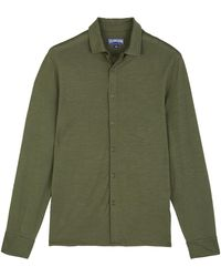 Vilebrequin - Camicia Uomo In Jersey A Tinta Unita - Camicia - Calandre - Lyst