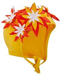 Vilebrequin Bathing Cap Fleurs 3d - Yellow