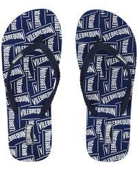 Vilebrequin Women Flip Flops Labels - Blue