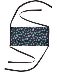 Vilebrequin Masque en tissu à nouer micro ronde des tortues - masque - mask - Bleu