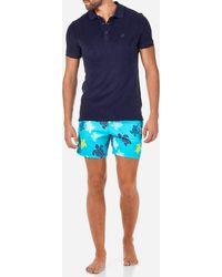 Vilebrequin Men Terry Cloth Polo Shirt Solid - Azul