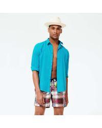 Vilebrequin Natural Straw Panama Hat Solid