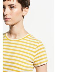 Vince Bengal Stripe Essential Cotton Crew - Multicolour