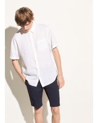 Vince - Washed Linen Short Sleeve - Lyst