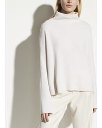 Vince Funnel Neck Pullover - White