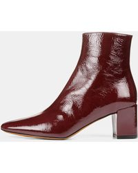 Vince Patent Leather Lanica Boot - Multicolour