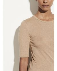 Vince Elbow Sleeve Crew - Natural