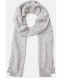 Vince Boiled Cashmere Scarf - Gray