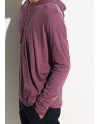 Vince Double Layer Pullover Hoodie - Purple