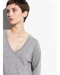 Vince Cashmere Weekend V-neck - Gray