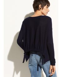 Vince | Shirred Back Pullover | Lyst