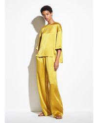 Vince Satin Short Sleeve Tee - Yellow