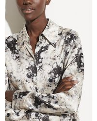 Vince Painted Crema Shaped Collar Blouse - Multicolor