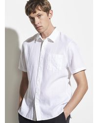 Vince Linen Short Sleeve - White