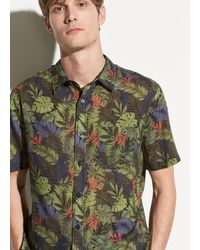 Vince Men's California Print Short-sleeve Sport Shirt - Black