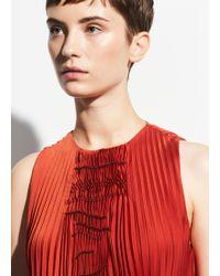 Vince Smocked Dress - Red