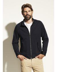 Vince Knit Harrington Jacket - Blue