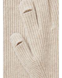 Vince Ribbed Cashmere Gloves - Natural