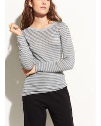Vince - Pinstriped Pima Cotton Shirttail Top - Lyst