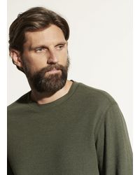 Vince Thermal Double Knit Crew - Green