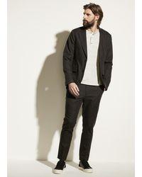 Vince Linen Blend Modern Trouser - Black