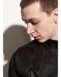 Vince - Leather Bomber - Lyst