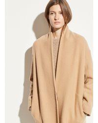 Vince Wool Collarless Coat - Natural